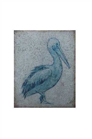 Metal Pelican Wall Decor