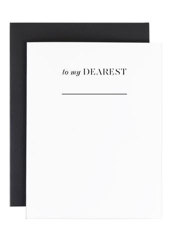 """to my dearest""...Greeting Card"