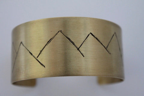 Brass Mountain Relief Bracelet