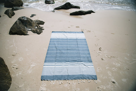 Navy Blue Summer Beach Towel