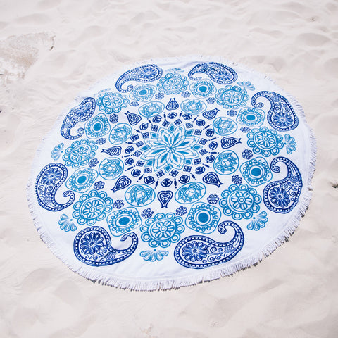 Ocean Dreams Luxe Round Beach Towel