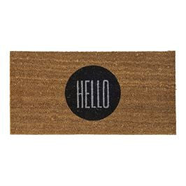 Coir 'HELLO' Door Mat