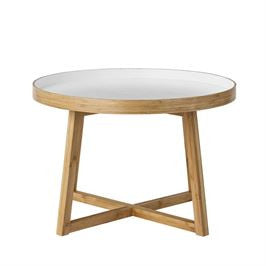 Bamboo with White Top Table