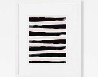 Mid Century Art Print - Stripes
