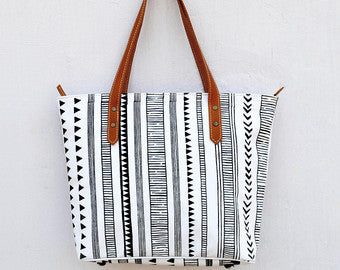 Laminated Cotton Totes, Various Prints