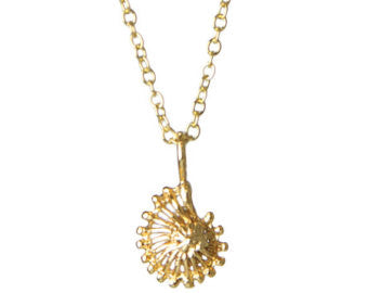 Gold Mini Nautilus Charm Necklace