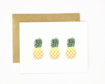 """Pineapples"" Greeting Card"