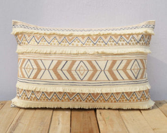 Embroidered Moroccan Pillow Cover