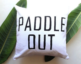 Paddle Out Throw Pillow Cover