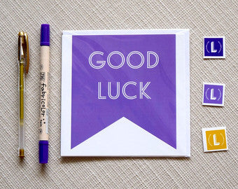 """Good Luck"" Greeting Card"