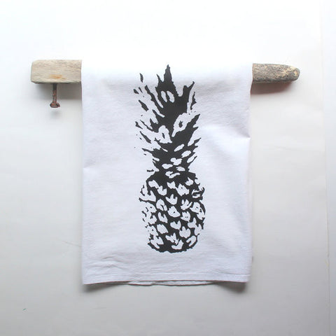 Black and White Pineapple Dish Towel
