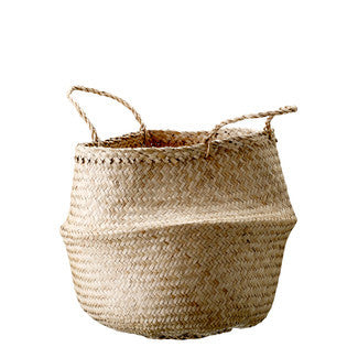 Natural Seagrass Basket with Handles