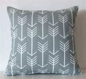 Arrow Pillow in Grey