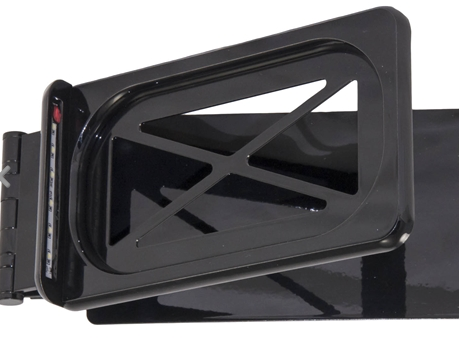 KSO Hide-Away License Plate Bracket (Chrome or Shiny Black)