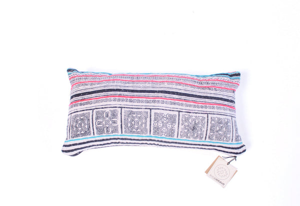 Thai Hmong Batik Hemp Pillow