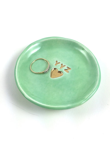 YYZ Heart Ring Dish - Turquoise