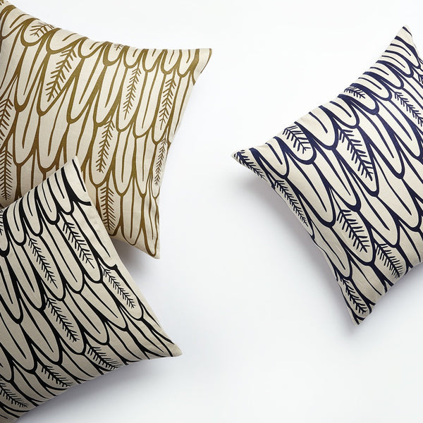 Feathers Pillow - Raven Black