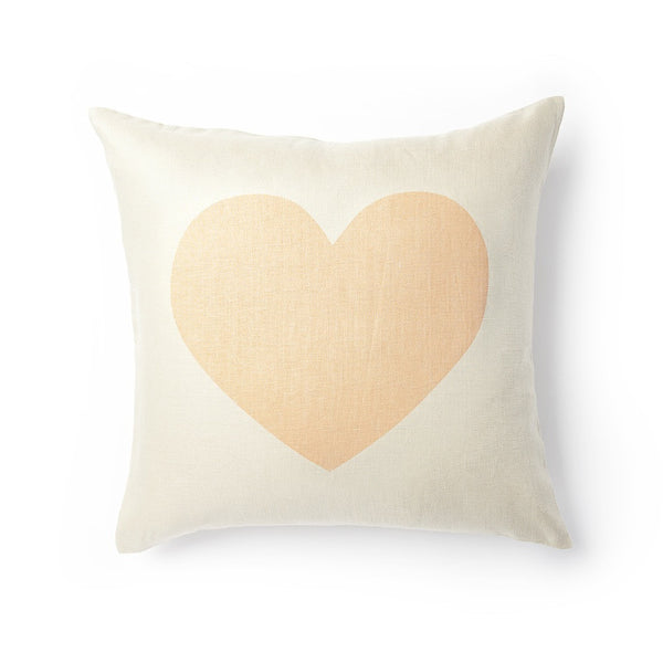 Giant Heart Pillow - Bellini Peach