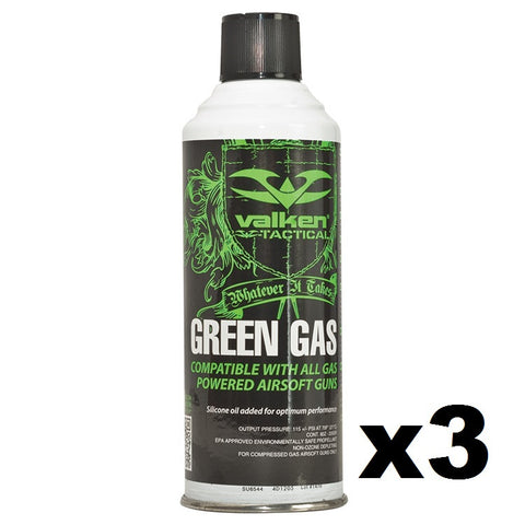 Valken Green Gas 3-Pack