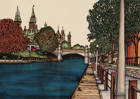 Rideau Canal by Renee Bovet