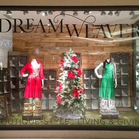 Winter Dresses Window at Dream Weaver