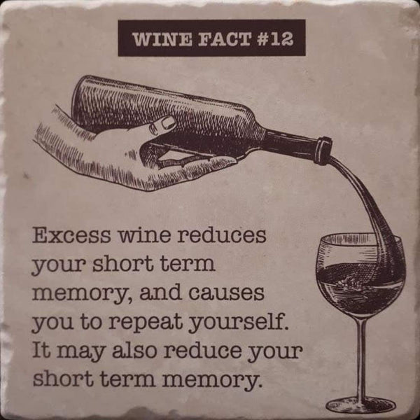Wine fact coaster