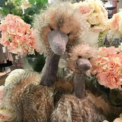 Odette the Ostrich - Mother & Daughter