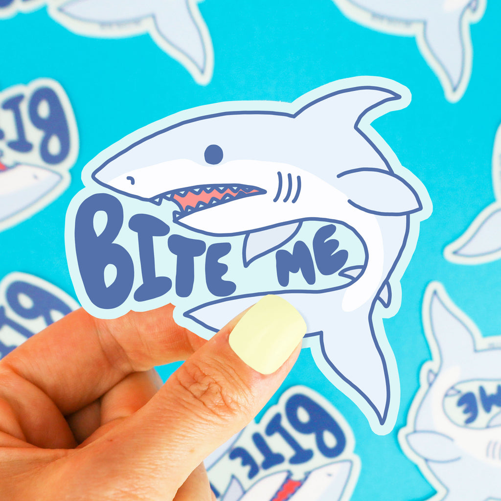 Bite-Me-Shark-Great-White-Vinyl-Sticker-Salty-Funny