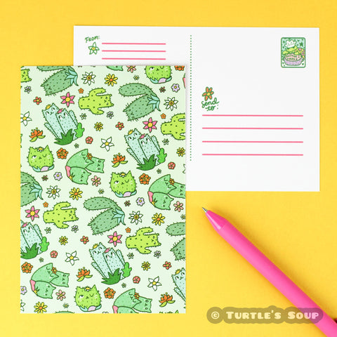 Cactus-Cats-Cacti-Kitty-Postcard-Turtle_s-Soup