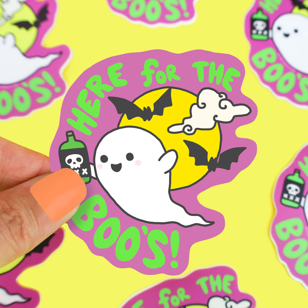 Here-For-The-Boos-Ghost-Liquor-Beer-Funny-Halloween-Spooky-Ghoul-Sticker-Turtles-Soup