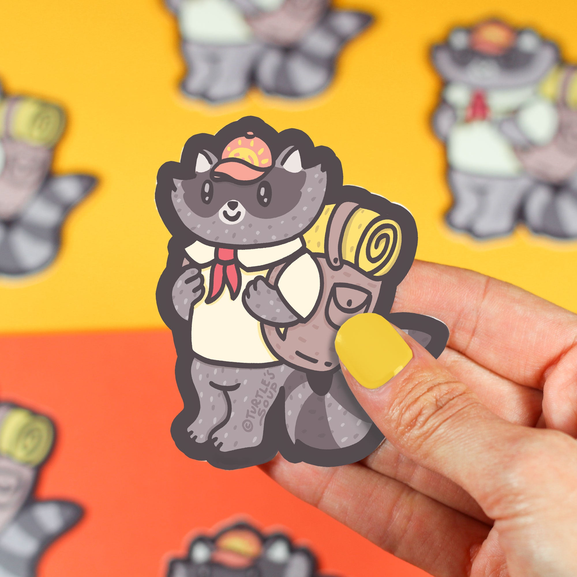Adventurer Raccoon Vinyl Sticker