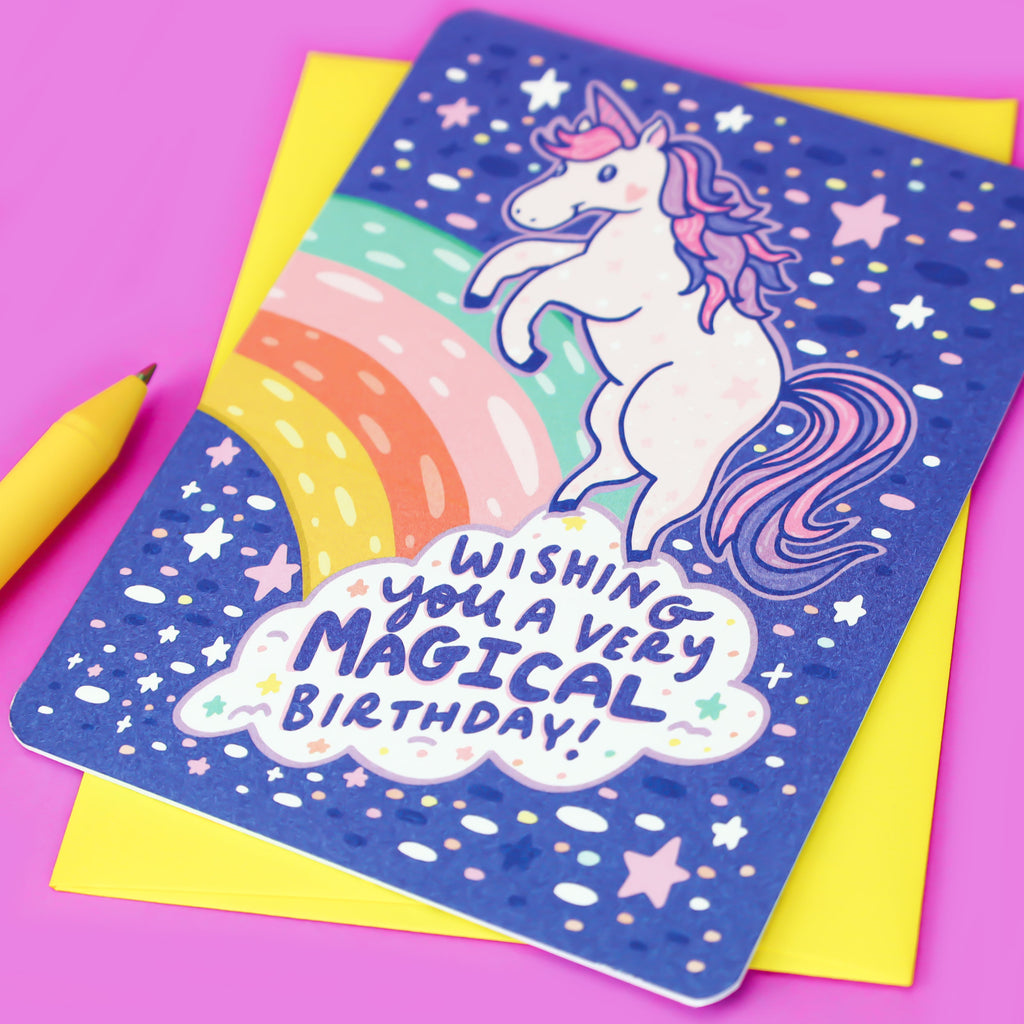 Magical-Unicorn-Birthday-Card-Stars-Rainbows-Pastel-Turtles-Soup-Stationery-Girls