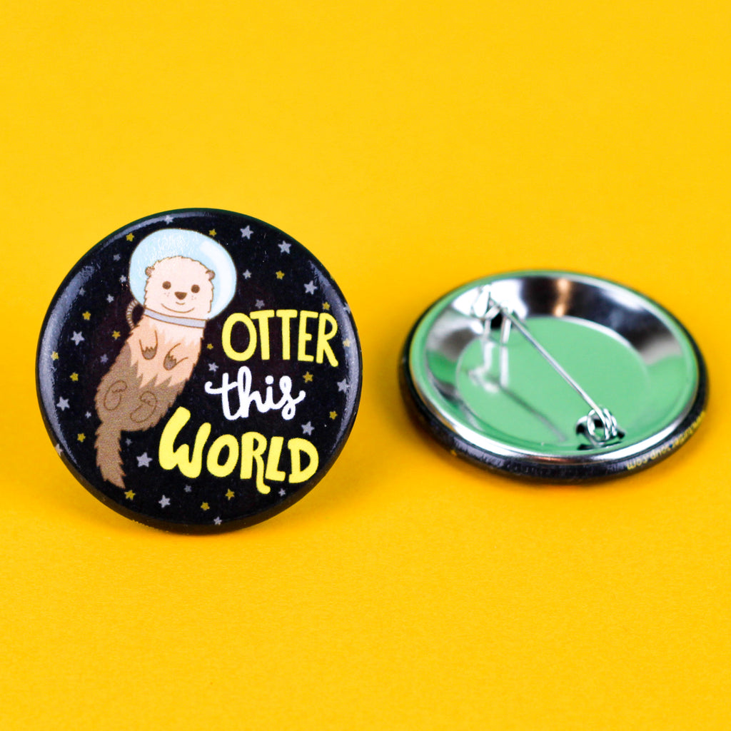 Otter-This-World-Pinback-Button-Turtles-Soup-Galaxy