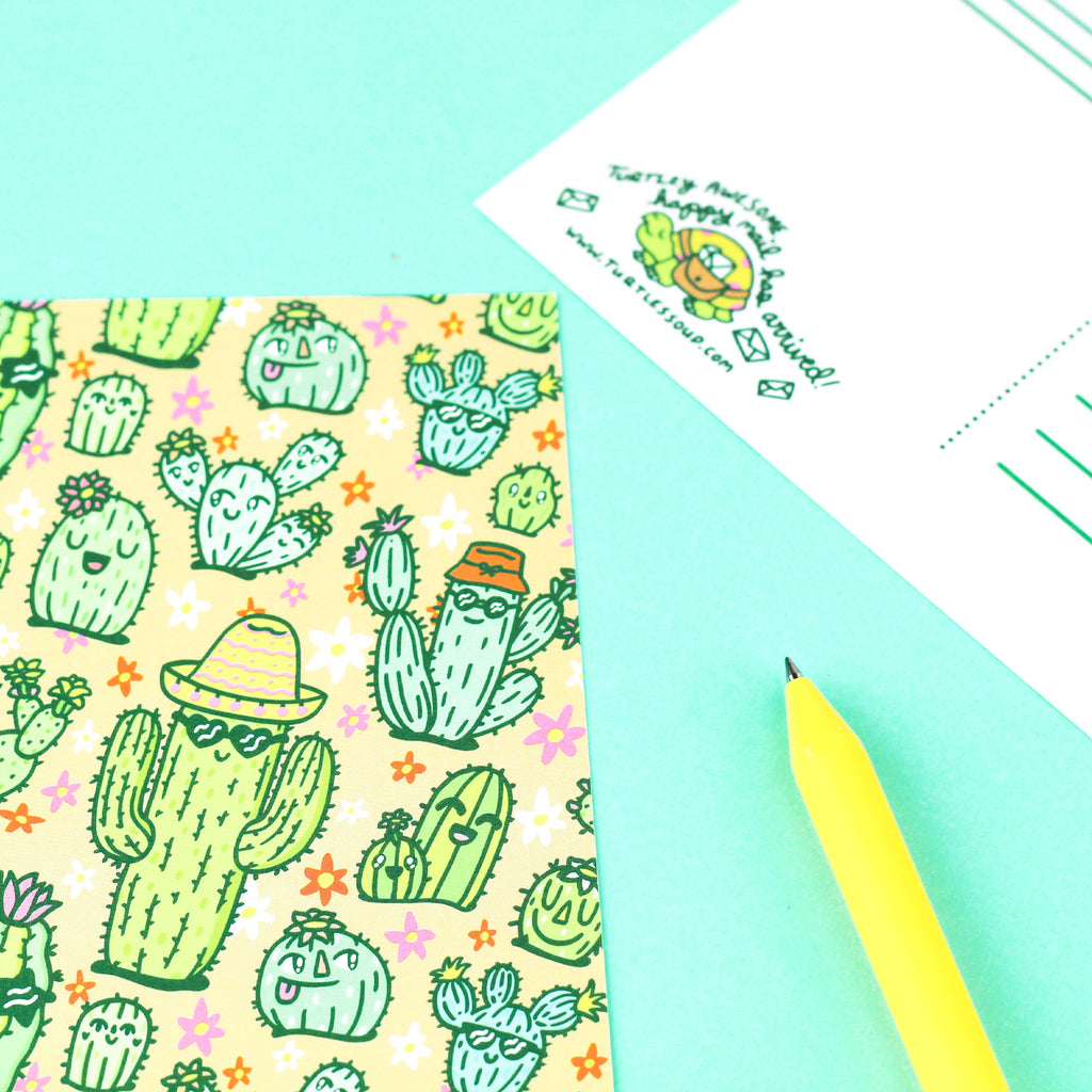 happy,cactus,postcard,flowers,summer