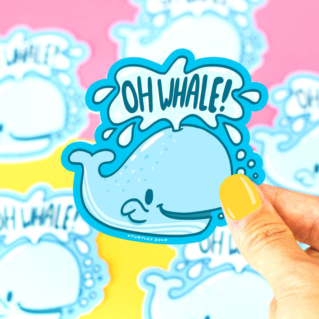 funny-vinyl-sticker-oh-well-whale-pun-punny-cute-animal-art-turtle_s-soup