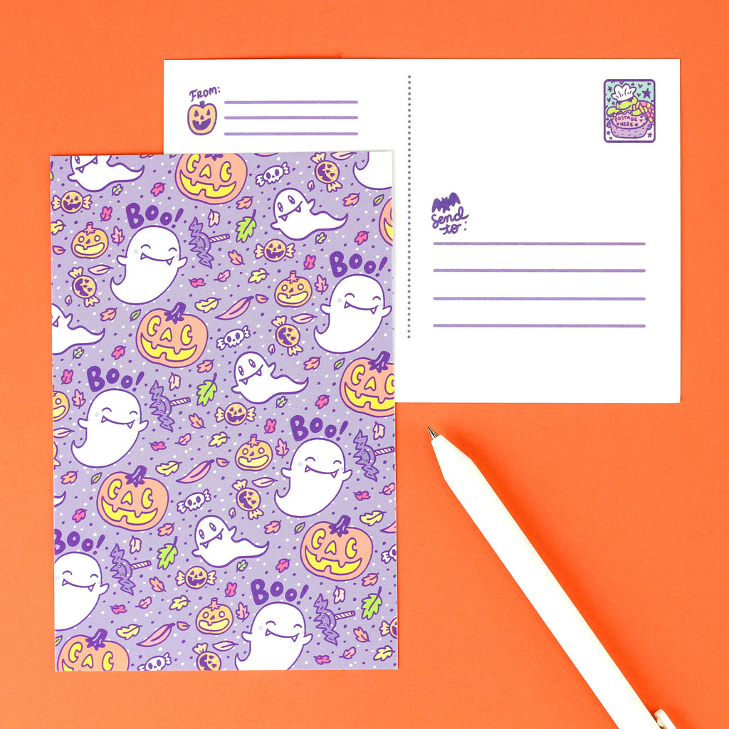 Halloween Ghosts Postcard