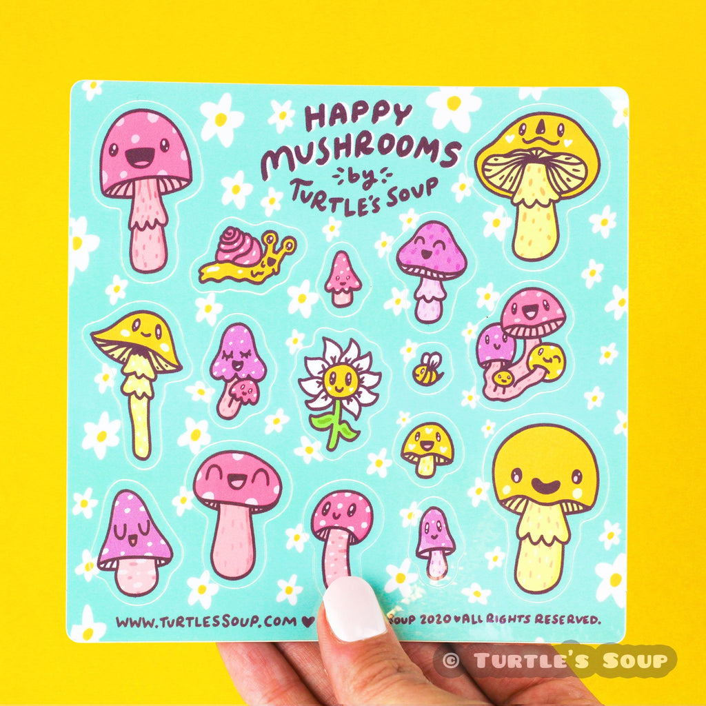 happy-mushroom-vinyl-sticker-set-turtle_s-soup