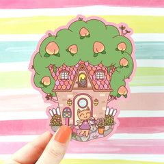 cat tree house sticker
