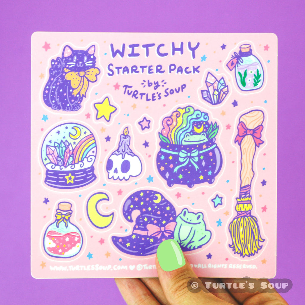 witchy-starter-pack-sticker-set-crystal-ball-toad-broom-jar-cute-art