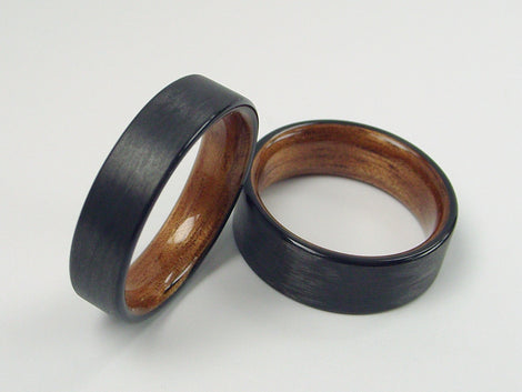 Carbon Fiber and Wood Rings