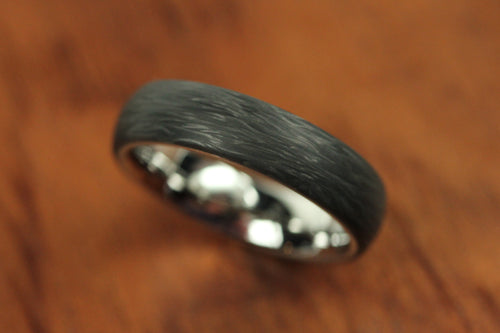 Domed Forged Carbon Ring with Titanium Interior
