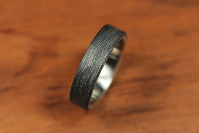 Forged Carbon Ring with Titanium Interior