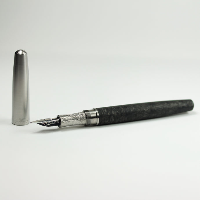 Titanium and Forged Carbon Fiber Fountain Pen
