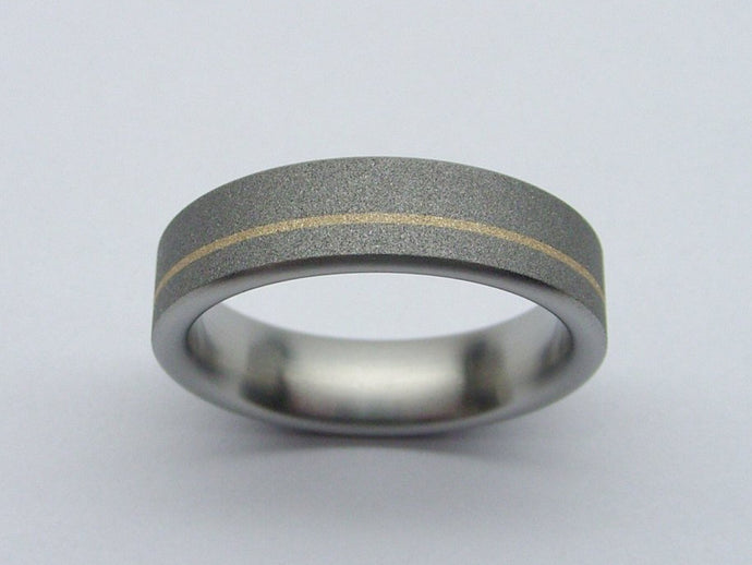 Titanium Band in Gray and Matte Gold
