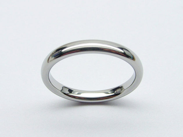Superb Quality Ladies Wedding Band in Polished Titanium