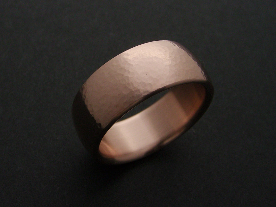 Bronze Wedding Ring with Hammered Finish