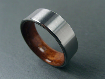 Titanium and Wood Ring Rosewood Wedding Band