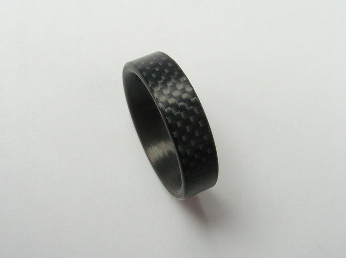 Carbon Fiber Ring in Woven Style