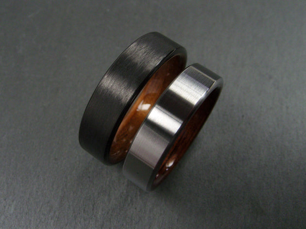 rings zironium wedding special purchase rosewood ring wood wedgewoodrings zirconium lined with grade cocobolo black