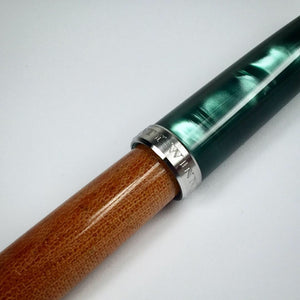 Titanium Green Italian Acrylic and Micarta Fountain Pen